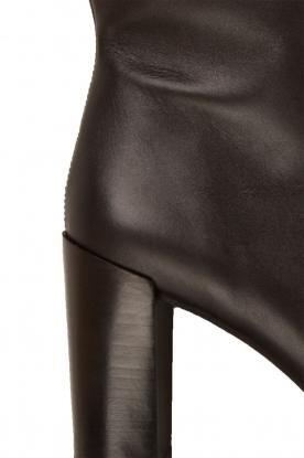Maluo | Leren laarzen Serafina | zwart