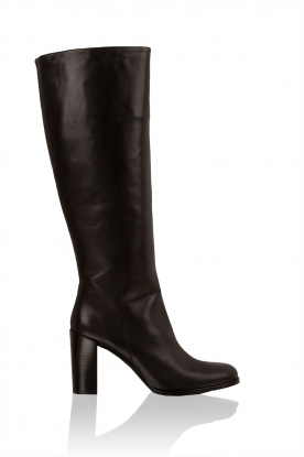 Leather knee boot Bianca | black