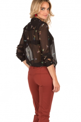 Blouse Birds | black