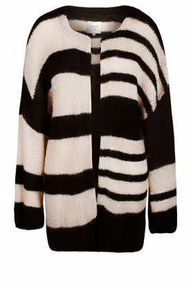 Dante 6 |  Knitted cardigan Freja | black/white