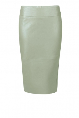 Dante 6 |  Leather skirt Giselle | green