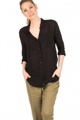Denham | Blouse Adventure | zwart