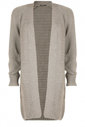 Denham |  Knitted cardigan Modu | grey