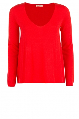 American Vintage |  Fine knitted woollen sweater Blossom | red