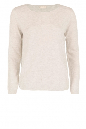 American Vintage |  Fine knitted sweater Blossom | grey