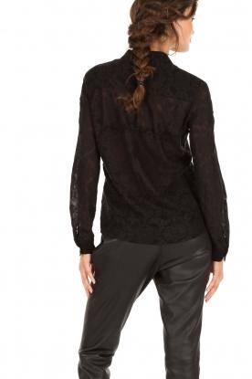 Kanten blouse Indy | zwart