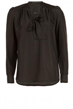 IKKS | Pussybow blouse Tess | zwart
