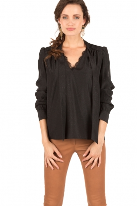Pussybow blouse Tess | black