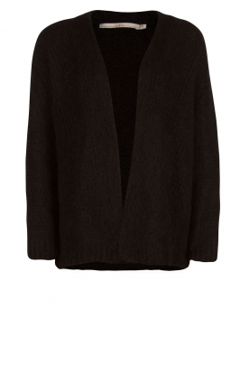 Knitted cardigan Dylene | black