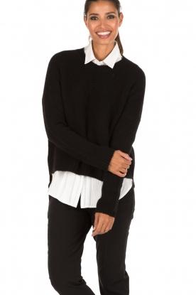 Aaiko | Gebreide trui Agata | zwart