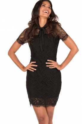 Aaiko | Kanten jurk Lacy | zwart