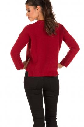 Aaiko | Gebreide trui Agata | rood