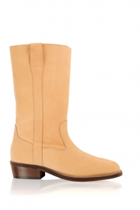 Maluo |  Leather ankle boots Nobuck | camel