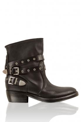 Catarina Martins | Leren laarzen Roger | zwart