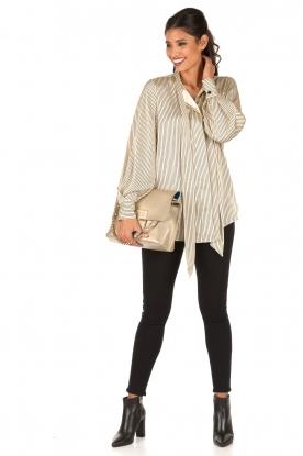 Patrizia Pepe | High-waist slim fit 5 pocket broek Gabardine | zwart