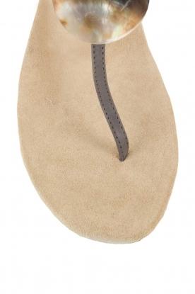 Maluo | Leren sandalen Martine | grijs