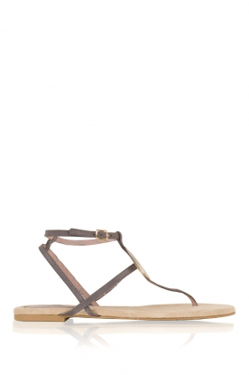 Maluo |  Leather sandals Martine | grey