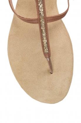 Maluo | Leren sandalen Marie | bruin