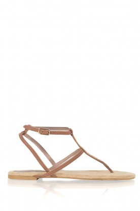 Maluo |  Leather sandals Marie | brown