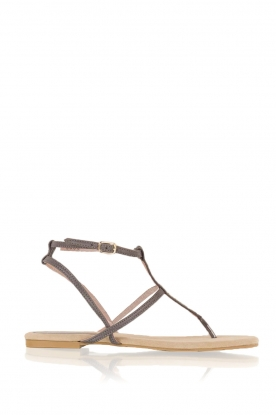 Maluo |  Leather sandals Marie | grey