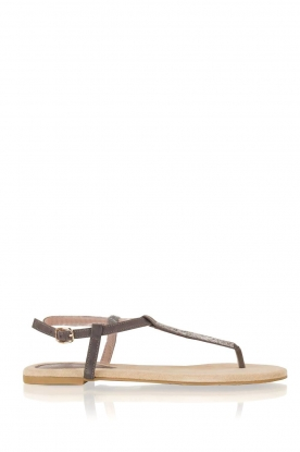 Maluo |  Leather sandals Mabel | grey