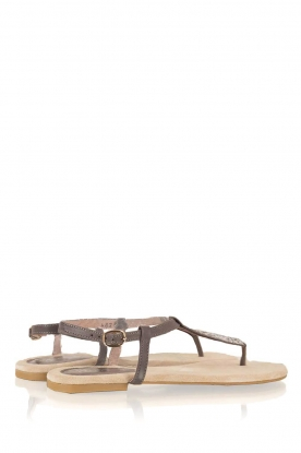 Maluo | Leren sandalen Mabel | grijs