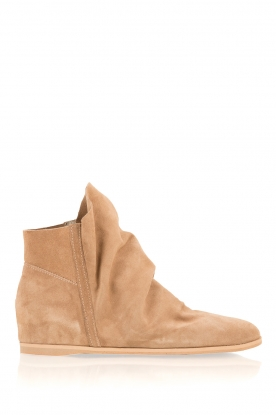 Maluo |  Suede wedge boots Camoscio | brown