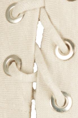 IRO | Linnen lace-up top Ibex | licht grijs