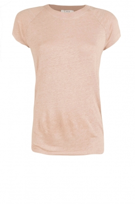 IRO |  linen lace-up top Irys | pink