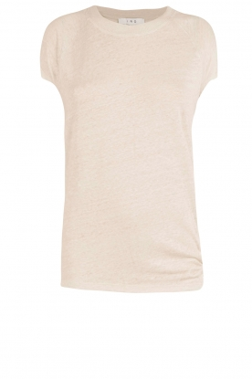 IRO |  linen lace-up top Irys | light grey