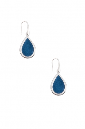Close to Zen | 925 sterling oorbellen Little Tears of Joy klein | blauw