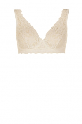 Hanro |  Lace bra soft-cup moments | light beige