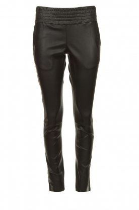 Ibana | Stretchleren broek Colette | zwart