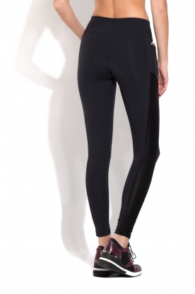 Deblon Sports | Side Pocket Sportlegging Lynn | Zwart