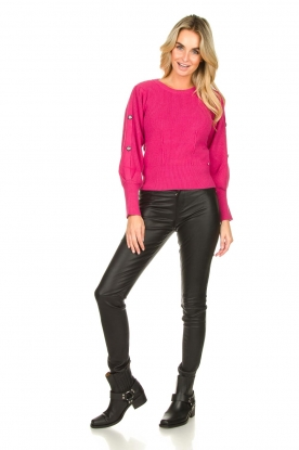 Ibana    Leather stretch pants Passion   black