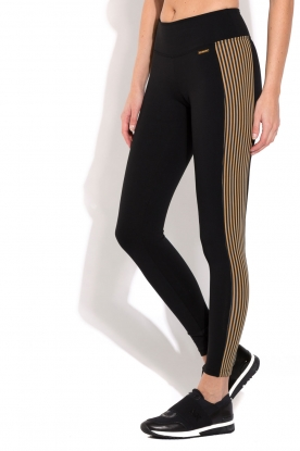Deblon Sports | Sportlegging Isabel | camel/zwart