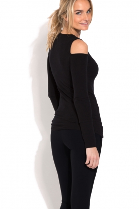 Deblon Sports | Sporttop Open Shoulders |  zwart