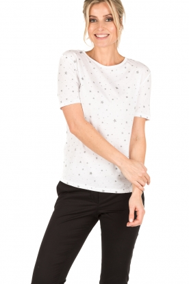 Zoe Karssen | T-shirt Stars All Over | wit