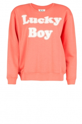 Zoe Karssen | Sweatshirt Lucky Boy | koraalrood