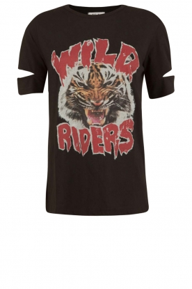 Zoe Karssen | T-shirt Wild Riders | zwart