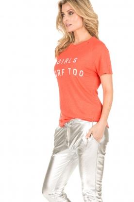 Zoe Karssen | T-shirt Raglan | neon oranje