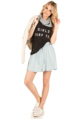 Zoe Karssen | Destroyed Tanktop Girls Surf | zwart