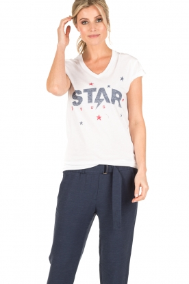 Zoe Karssen | T-shirt Star Dust | wit