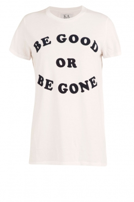Zoe Karssen | T-shirt Be Good | wit