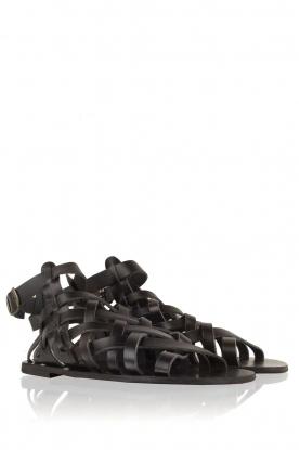 Nulla Nomen | Leren sandalen Rina | zwart