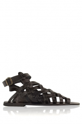Nulla Nomen |  Leather sandals Rina | black