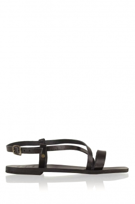 Nulla Nomen |  Leather sandals Bo | black
