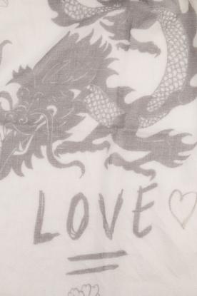 I love my Moment | Wollen sjaal Mad | grijs