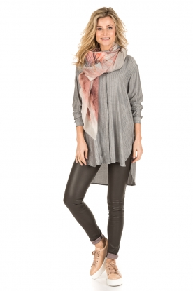 Dante 6 | Lange blouse Floryn | zwart/wit