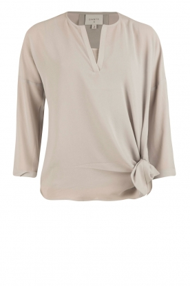 Dante 6 |  Blouse with knot detail Gail | grey